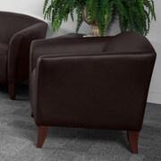 Latitude Run Brennen Leather Lounge Chair; Brown