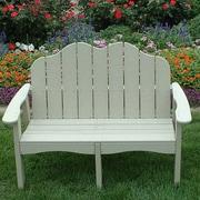 TailwindFurniture Traditional Adirondack Garden Bench; Cedar