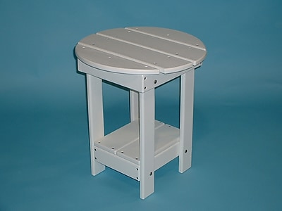 TailwindFurniture Adirondack Round Side Table; White