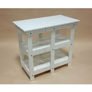 TailwindFurniture Adirondack Buffet Table w/ Shelf; White