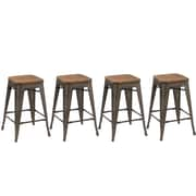 Union Rustic Desiree 24'' Bar Stool (Set of 4); Copper