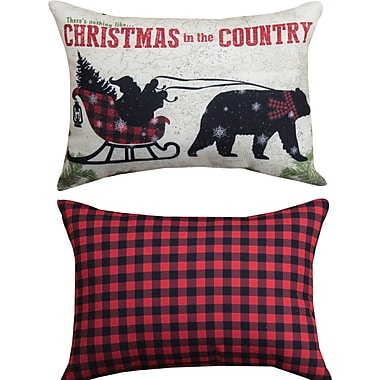 Manual Woodworkers & Weavers Country Christmas - Rect Lumbar Pillow
