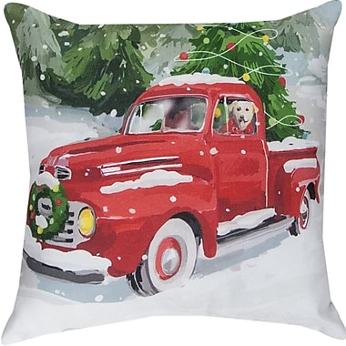Manual Woodworkers & Weavers Holiday Drive Throw Pillow