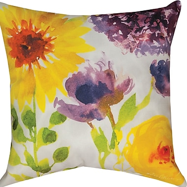 Manual Woodworkers & Weavers Flower Power Throw Pillow