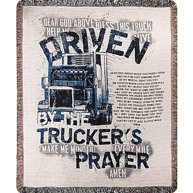 Manual Woodworkers & Weavers Trucker's Prayer Tapestry Cotton Throw