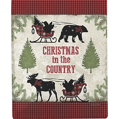 Manual Woodworkers & Weavers Country Christmas Dye Throw