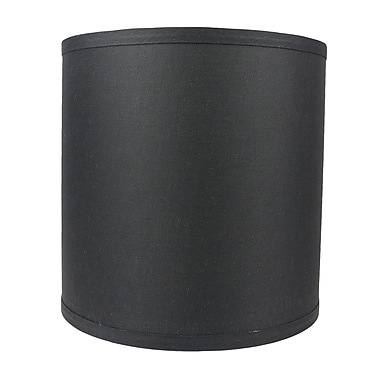 Urbanest Classic Smooth 10'' Linen Drum Lamp Shade; Black