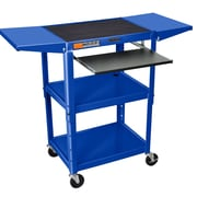 Offex Adjustable Height AV Cart; Blue