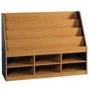 Offex 6 Compartment Book Display; Blue