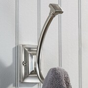 Richelieu Transitional Metal Wall Hook; Brushed Nickel