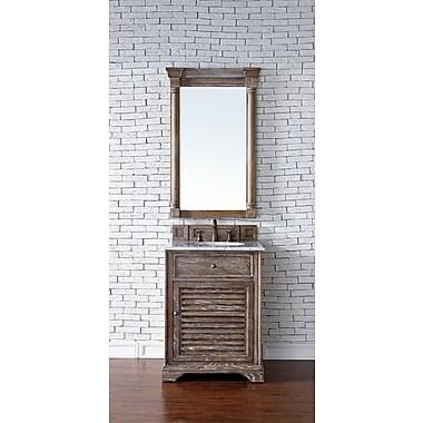 Darby Home Co Belfield 26'' Single Rectangular Sink Cottage White Bathroom Vanity Set; Driftwood