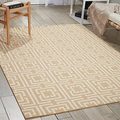 Ebern Designs Astra Rug in Tan; Rectangle 4' x 6'