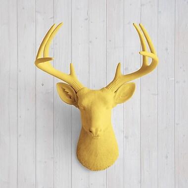 Wall Charmers Virginia Faux Taxidermy Deer Head Wall D cor; Curry Orange