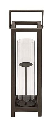 Cole & Grey Metal Lantern; 25'' H x 8'' W x 8'' D