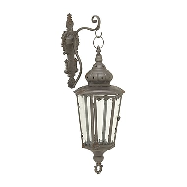 Cole & Grey Metal Lantern; Gray