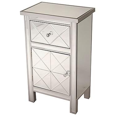 Heather Ann 1 Drawer 1 Door Accent Cabinet; Antique White