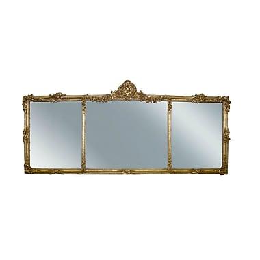 Hickory Manor House Georgian Mantel Mirror; Gold Leaf