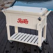 Permasteel 80 Qt. Pepsi Antique Patio Rolling Cooler