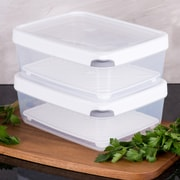 TarHong Zakarian Pro For Home 2 Large Container Food Storage Set (Set of 2); White