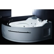 EAGO Jetted 66.8'' x 52.4'' Corner Whirlpool Bathtub; Right