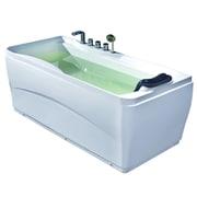 EAGO Acrylic 63'' x 29.5'' Freestanding Soaking Bathtub; Right