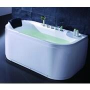 EAGO Acrylic 60'' x 29.5'' Freestanding Soaking Bathtub; Left