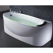 EAGO Acrylic 72'' x 31.5'' Freestanding Soaking Bathtub; Left