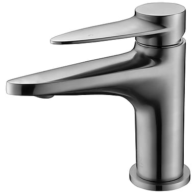 Alfi Brand Deck Mounted Single Handle Bathroom Faucet; Brushed Nickel