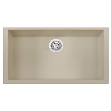Alfi Brand Granite Composite 33'' x 19.38'' Single Bowl Undermount Kitchen Sink; Biscuit