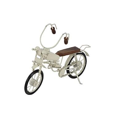 Cole & Grey Metal/Wood Bike Sculpture
