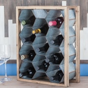 Cole & Grey Wood/Metal 11 Tabletop Wine Bottle Rack