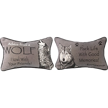 Manual Woodworkers & Weavers Advice from a Wolf Word Lumbar Pillow