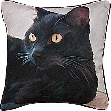 Manual Woodworkers & Weavers Cat Portrait Throw Pillow