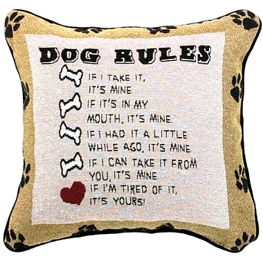 Manual Woodworkers & Weavers Dog Laws Throw Pillow