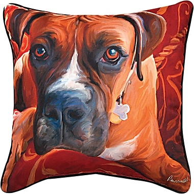 Manual Woodworkers & Weavers Harry Boxer Throw Pillow
