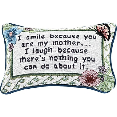 Manual Woodworkers & Weavers I Smile Because Mother Word Lumbar Pillow