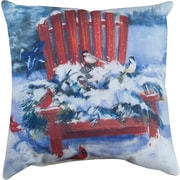 Manual Woodworkers & Weavers Chair in Winter Knife Edge Throw Pillow