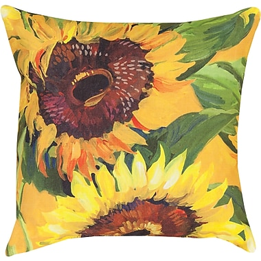 Manual Woodworkers & Weavers Sunflower Knife Edge Throw Pillow