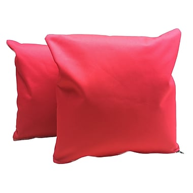 B&F Manufacturing Indoor/Outdoor Throw Pillow (Set of 2); Red