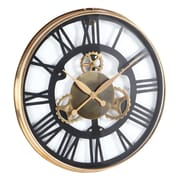 Cole & Grey Oversized Stainless Steel 25'' Wall Clock; Gold