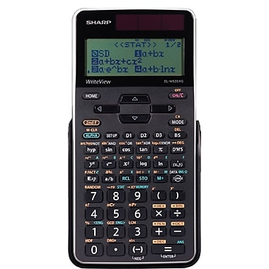 Sharp – Calculatrice scientifique 16 chiffres Write View ELW535XGBWH 422 fonctions, noir