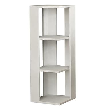 Decortie Design Nati Short 38'' Cube Unit Bookcase; White