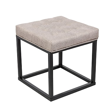 Porthos Home Carmel Square Ottoman; Brown