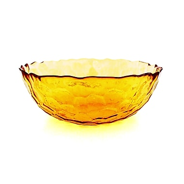 Red Pomegranate Hive Serving Bowl; Amber
