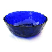 Red Pomegranate Hive Serving Bowl; Sapphire