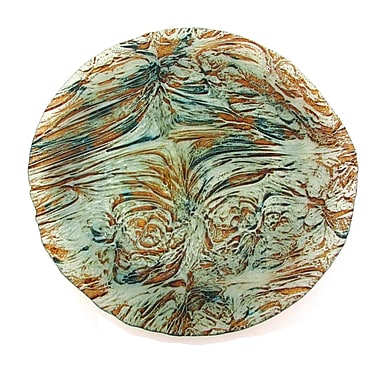 Red Pomegranate Ballad Platter; Turquoise Brown