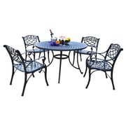 Darby Home Co Lomax 5 Piece Outdoor Dining Set; 48''