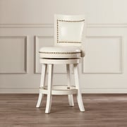 Darby Home Co Carstensen 24'' Swivel Bar Stool; White