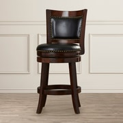 Darby Home Co Carstensen 24'' Swivel Bar Stool; Cappuccino