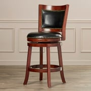 Darby Home Co Carstensen 24'' Swivel Bar Stool; Cherry